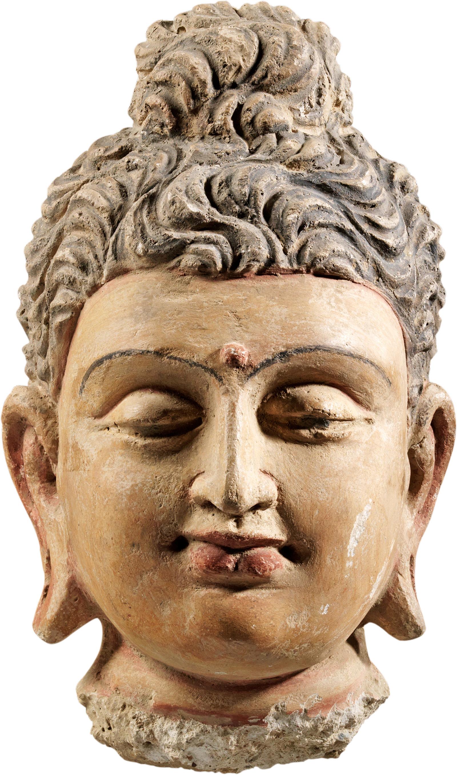 10 Buddha Head Gandharan Sculpture